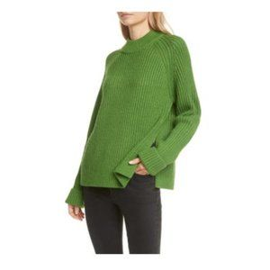 Club Monaco Green Wool Blend Knit Crewneck Sweater